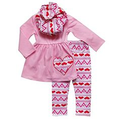 1ce016f6d Scarf Outfits, Valentines Day Hearts, Toddler Outfits, Toddler Girls, Heart  Print, Holiday Outfits, Sydney, Pc, Children Clothes
