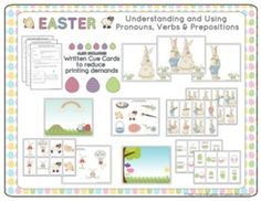 Speech Therapy: Pronouns, Verbs & Prepositions for Easter