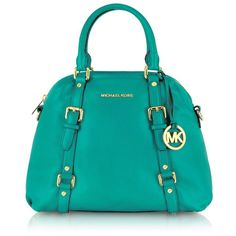 Michael Kors Bedford Genuine Leather Bowling Satchel Bag ($398) ❤ liked on Polyvore