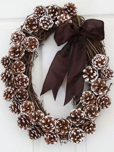 Pine Cone Wreath Instructions   pine cone wreath...*instructions   crafts