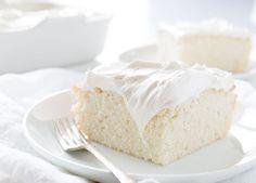 Got a sweet tooth? You are going to LOVE this easy and delicious White Snack Cake! #baking #whitecake #snackcake #buttercream #iambaker #cravingcake #cake