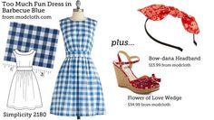 DIY Clothing & Tutorials: Make this look. Too Much Fun Dress. Simplicity 2180.