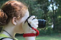 Red Paracord Camera Wrist Strap Remington by CreativeCowgirl, $18.00