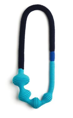 Eleanor Bolton  Necklace: Blues Collection 1 2011  Hand-Dyed cotton rope and cotton yarn