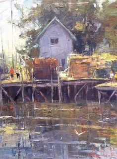 At the Wharf by George Van Hook