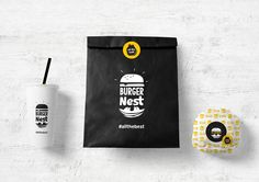 Sophia Georgopoulou - Burger Nest — World Packaging Design Society / 世界包裝設計社會 / Sociedad Mundial de Diseño de Empaques Burger Restaurant, Restaurant Hamburger, Restaurant Branding, Restaurant Design, Burger Branding, Burger Packaging, Brand Packaging, Takeaway Packaging, Coffee Packaging