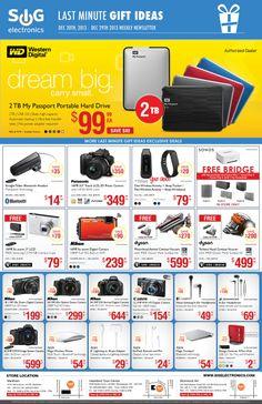 Western Digital 2TB Portable Hard Drive NOW ONLY $99.99 Id Digital, Free Bridge, Flyer Layout, Sonos, Last Minute Gifts, Dream Big, Leaflet Design