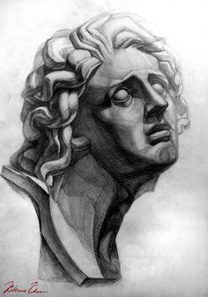 #рисунок #портретголовы #графика #голова #учебное #карандаш #штриховка #drawing #portraithead #graphics #head #training #pencil #shading