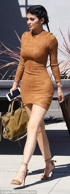Kylie Jenner Steps Out In Skintight Suede Mini-Dress | LEOCROWN BLOG