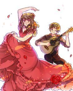 Flamenco by ROSEL-D.deviantart.com on @deviantART
