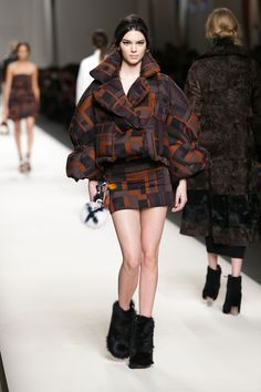 KendallJenner walks the runway at the Fendi show during the Milan Fashion Week Autumn/Winter 2015 on Feb. 26, 2015 in Milan.   - Cosmopolitan.com