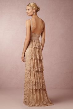 Aerin Gown in Bride Wedding Dresses at BHLDN in vintage blush colour Bridal Gowns, Wedding Gowns, Backless Wedding, Lace Wedding, Wedding Blog, Bridesmaid Dresses, Prom Dresses, Formal Dresses, Glamour