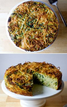 Spaghetti Pie with Pecorino and Black Pepper