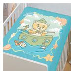 Cobertor Infantil Raschel Pescaria Verde 90x110cm - Jolitex - AmazomStore