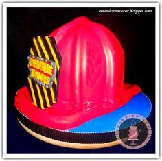 """Creando en azucar: Vista previa """"Torta casco de bombero Rescue Heroes"""""""