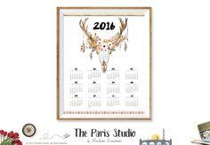 2016 Printable Calendar 2016 Calendar Printable by TheParisWife