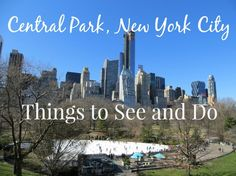 Things to see and do in Central Park, New York City.