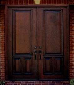Double Wood Entry Doors from Emerald Doors. Big collection of Wood Door from usa. Also deals in Manufacturer of Double Wood Entry Doors Double Door Design, Main Door Design, Front Door Design, Wood Entry Doors, Double Entry Doors, Wooden Doors, Front Entry, Door Entry, Door Design Interior