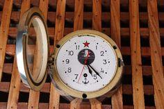 horloge de cloison de sous marin russe