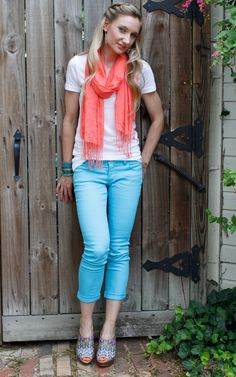 Let's get bright this summer! My two favorite brights: coral & turquoise!