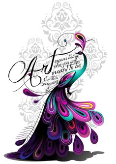 """""""Art means being who you were meant to be and then expressing it."""" Art Peacock Tattoo by ~Ivyswoman on deviantART"""