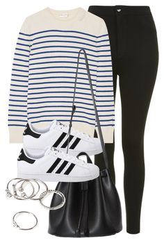 """Untitled #12097"" by vany-alvarado ❤ liked on Polyvore featuring Topshop, Yves Saint Laurent, adidas Originals and Forever 21"