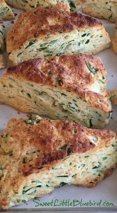 SPINACH FETA SCONES - Rich, tender, flaky goodness. If you've been searching for a savory scone recipe, look no further, this is the one you should try! | SweetLittleBluebi...