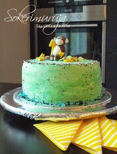 Sokerimuruja. Apinakakkua juhlapöytään. Lastenkakut. Lastenjuhlat. Monkey cake.