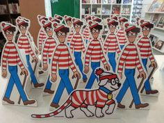 Waldos getting ready to go out to local businesses for Find Waldo Local.  The Book Nook, Brenham, TX.  #findwaldolocal