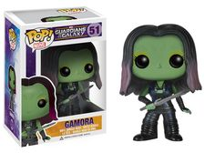 Pop! Marvel: Guardians of the Galaxy - Gamora Nearly the complete set of GOTG Funko Pop! Vinyls instore including 1 Unstickered Flocked rocket get in quick b4 he flys into space ;)
