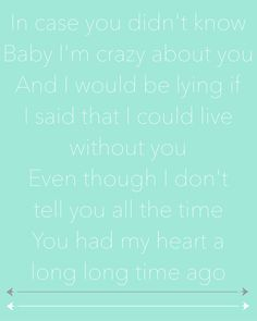 In case you didn't know by Brett Young...one of my current sad favorites...