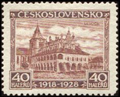 Bélyeg: Levoča (Csehszlovákia) (Csehszlovákia 10. jubileumi évfordulója) Mi:CS 268,Sn:CS 143,Yt:CS 243,AFA:CS 136,POF:CS 234