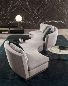 Minotti - Seymour Sofa - design by Rodolfo Dordoni Design Living Room, Living Room Sofa, Living Room Decor, Living Rooms, Dark Furniture, Sofa Furniture, Furniture Design, Furniture Ideas, Living Furniture