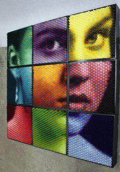 Thousands of Crayons Beautifully Form Pixelated Portraits - My Modern Metropolis