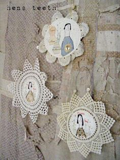 ♒ Enchanting Embroidery ♒  embroidered doily art | Hen's Teeth