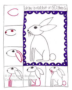 learn step by step how to draw a cute rabbit