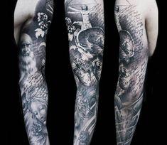 Da Vinci Tattoo Sleeve sleeve tattoo