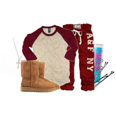 Perfect Lazy Day Outfit -without the uggs and instead of the a sweats, hawaiian shorts, its me everyday at home *SIGH*