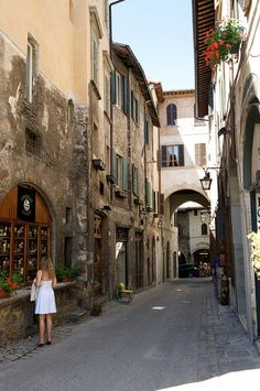 Streets of Spoleto, Umbria, Italy