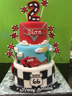 Cars them fondant birthday cake, Sugarnomics Cake Studio Guam