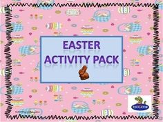 Easter Activity Pack - Literacy and Math Fun. Print and go. Four different sheets of math word problems, (two addition and two subtraction), ten count the eggs and trace the number word sheets, make an Easter card sheet, an original Easter poem to read, a create a word activity, an Easter word scramble, a jelly bean sort and graphing activity, an Easter maze, a history of Easter (the resurrection) and a history of Easter (bunnies and eggs). $