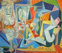 """Releitura da tela """"As Mulheres de Argel"""" de Pablo Picasso."""