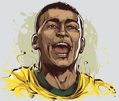 Brazilian Sports Legends: Romário - Football Player by Cristiano Siqueira