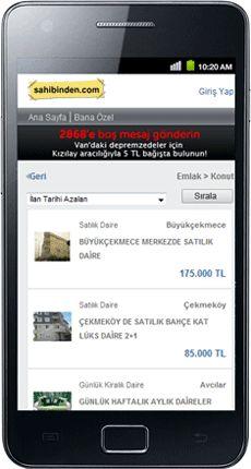 Sahibinden.com [Mobile Websites]