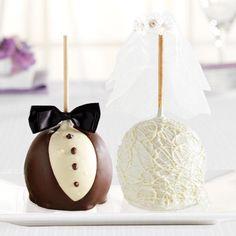 View Bride & Groom Jumbo  Caramel Apple Gifts