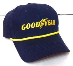 New GOODYEAR TIRES HAT Navy-Blue&Yellow Logo Rope Curved-Bill Snapback Men/Women #KProducts #BaseballCap