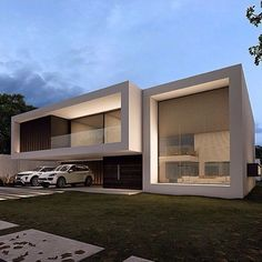 House Outer Design, Duplex House Design, House Front Design, Modern House Design, Architecture Design, Modern Architecture House, Beautiful Architecture, Building Design, Building A House