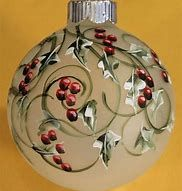 Image result for painted christmas ornaments
