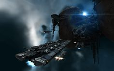 EVE ONLINE sci-fi game spaceship   y wallpaper background