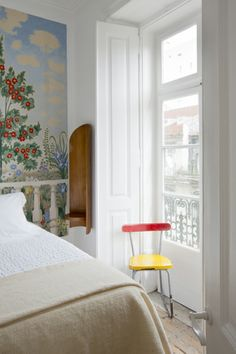 Bedroom detail, Campo Grande apartment, Baixa House, Lisbon www.baixahouse.com